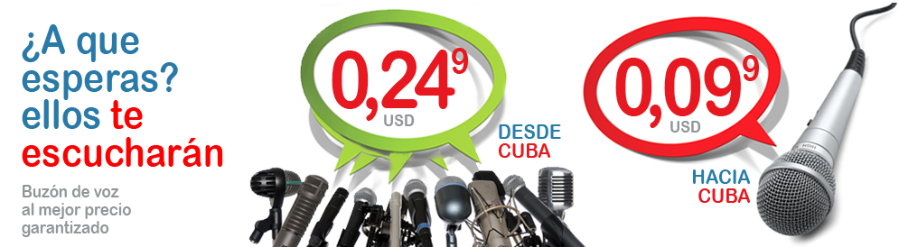 Send & Receive Messages: DimeCuba gives you multiple choices to send Voice Messages to Cuba for $0,12 USD and receive them for $0,24 USD