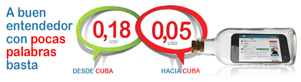 Send & Receive Messages: DimeCuba gives you multiple choices to send Text Messages to Cuba for $0,05 USD y receive them for $0,18 USD