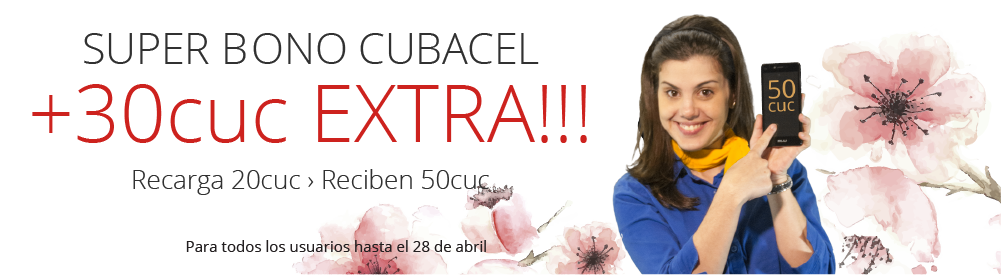 Cubacel Top Up at the best price.