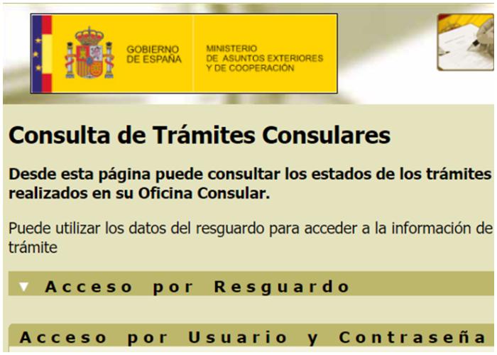 Consulado español habilita nueva página para consultar estado de trámites.