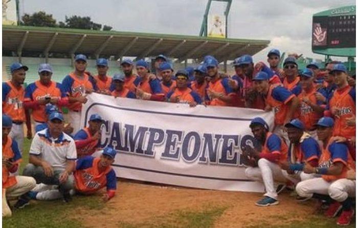 Gallos de Sacti Spíritus campeones del Nacional de Béisbol categoría Sub-23.