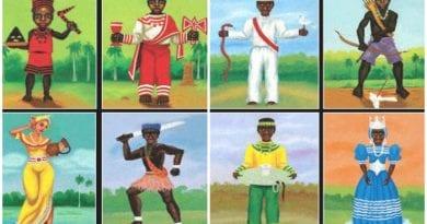 Los Orishas de la religión Yoruba.