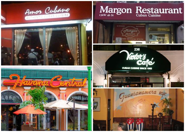 Mejores restaurantes cubanos en Nueva York.