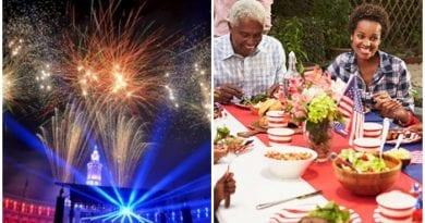 4 de julio los estadounidenses celebran juntos la Independencia de su país.