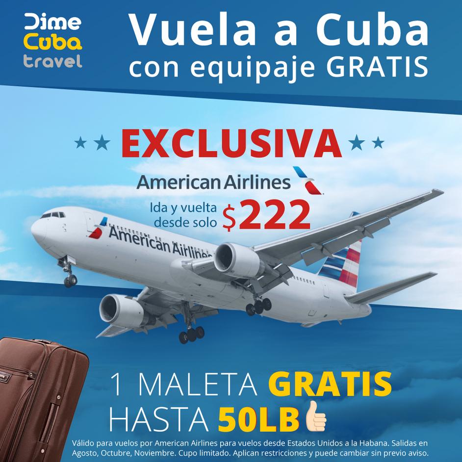 DimeCuba te lleva a La Habana con American Airlines.