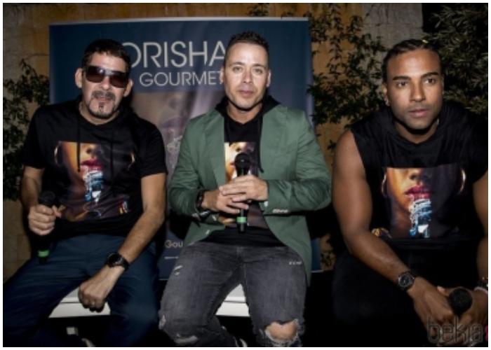 Grupo Orishas en la presentación de su álbum Gourmet (2018).