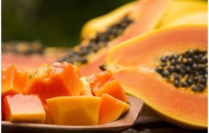 Receta de Frutabomba en almíbar.