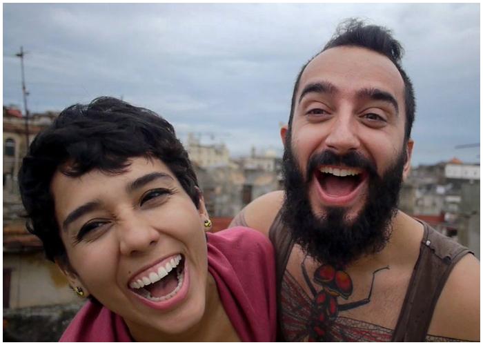 Demis y Nancy durante su viaje a La Habana.
