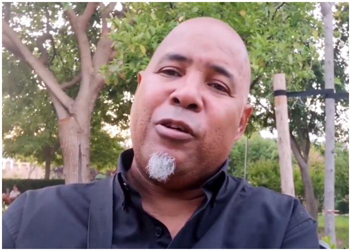 El repentista cubano Alexis Díaz.