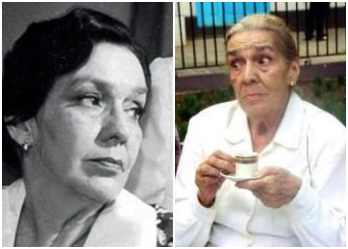 La primerísima actriz de Cuba, Raquel Revuelta.