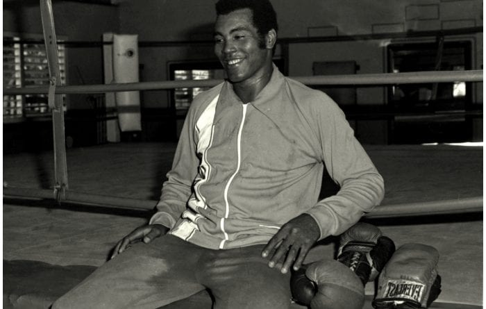 El boxeador cubano Teófilo Stevenson.
