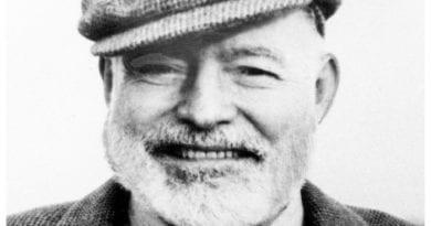 El escritor estadounidense Ernest Hemingway.