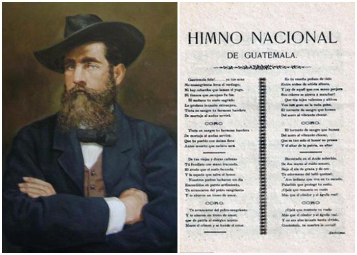 El poeta cubano José Joaquín Palma compuso el Himno Nacional de Guatemala.