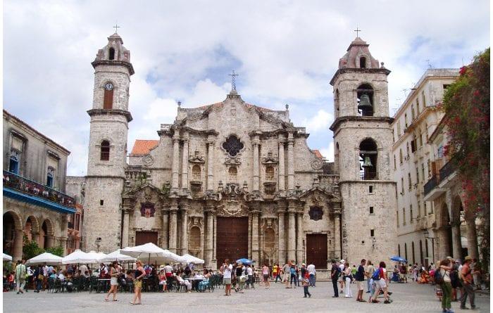 Fachada de la Catedral de San Cristóbal de La Habana.