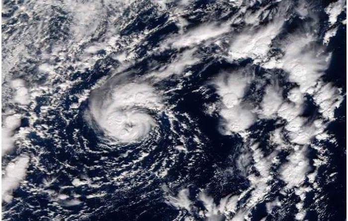 Imagen satelital del Huracán Pablo.