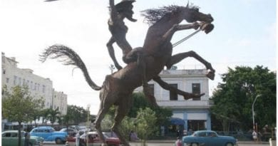 Monumento de Don Quijote de La Mancha, en Vedado.