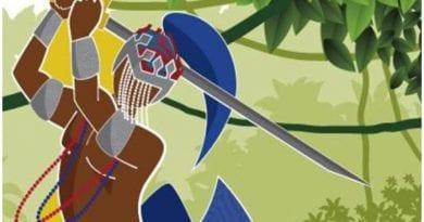 Oggun, orisha del hierro y de la espada.