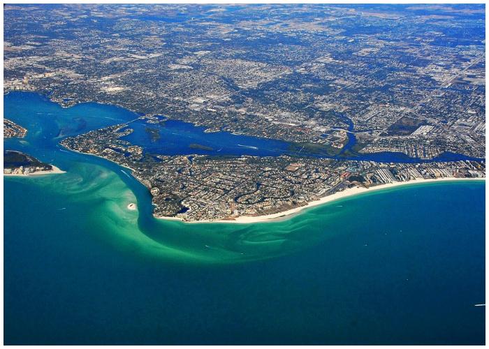 Siesta Beach, la playa más hermosa de Estados Unidos.