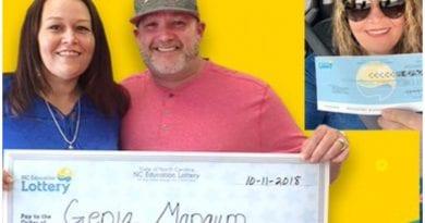 Genia Harrell resulta ganadora de la lotería dos veces y con un año de diferencia.