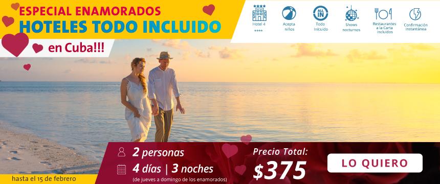 Oferta especial de Hoteles todo incluido en Varadero por el mes del amor