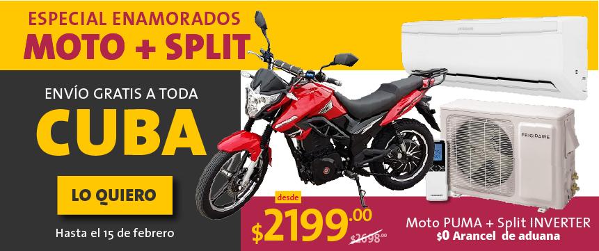 Envía a Cuba una moto y un split por solo $2199