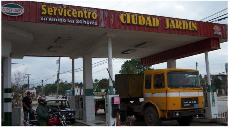 gasolina tarjetas magneticas Cuba