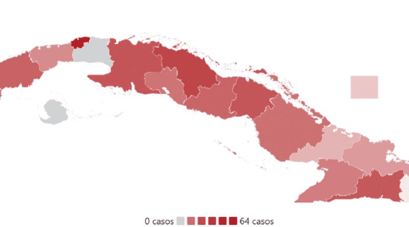 Mapa casos coronavirus Cuba