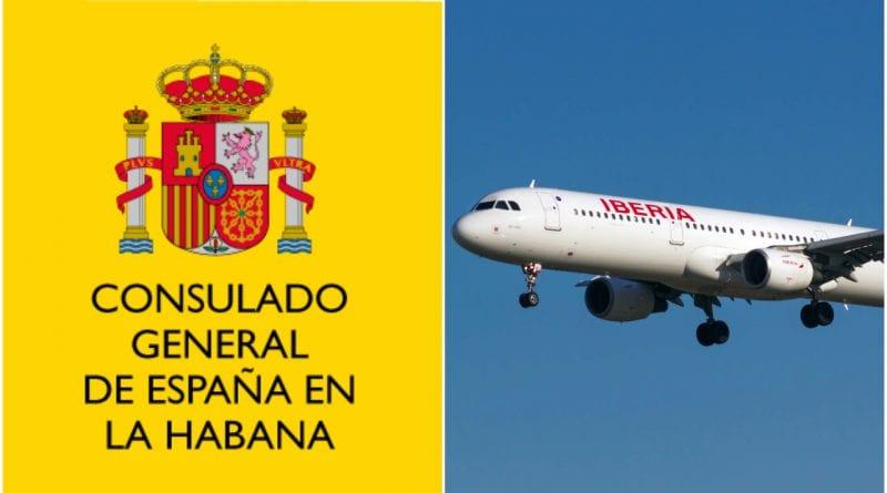 consulado España Cuba vuelo