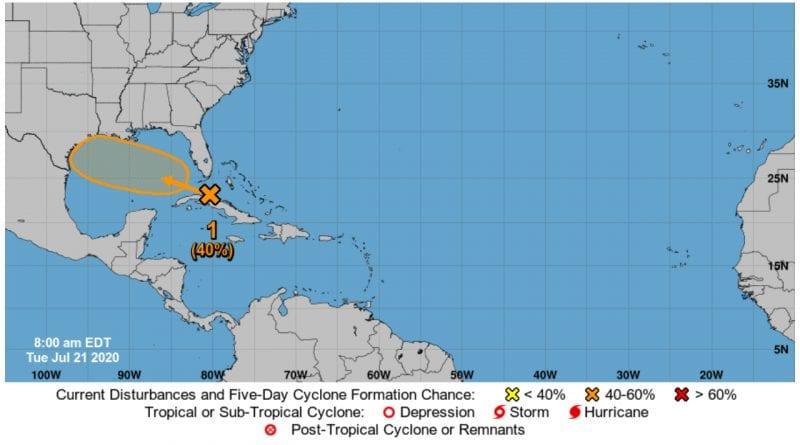 onda tropical Cuba Bahamas