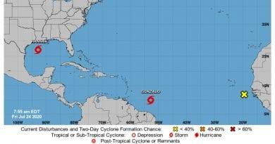 tormenta tropical Gonzalo huracan