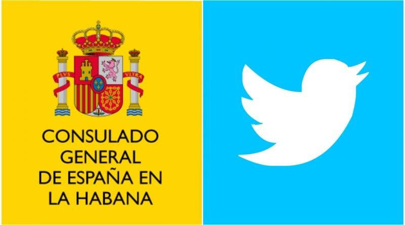 Consulado España Cuba Twitter