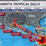 Tormenta tropical Sally podría convertirse en huracán Sally, este lunes
