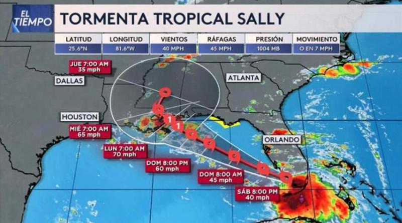 Tormenta tropical Sally podría convertirse en huracán este lunes