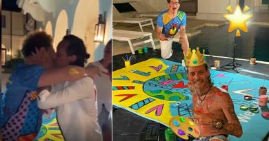 Pillan a Marc Anthony besándo apasionadamente a Romero Britto