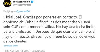 Western Union confirma que Cuba eliminará el CUC