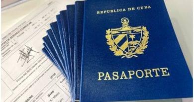 MINREX costos pasaporte cubano