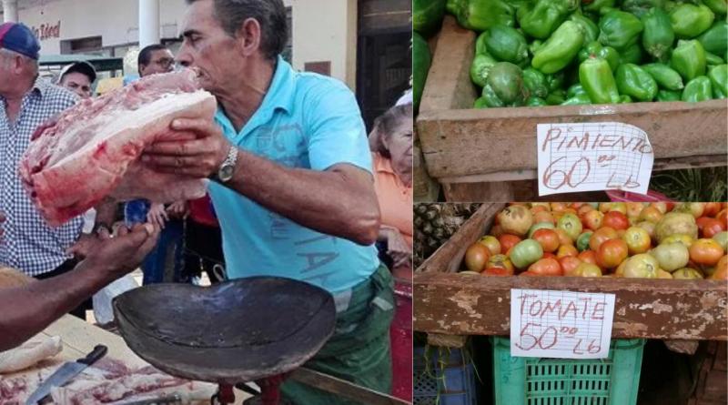 Habana impone precio máximo de venta para la carné y las verduras