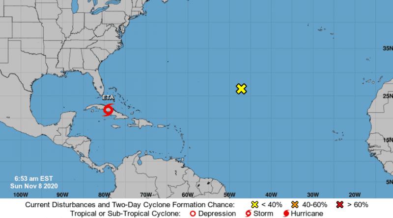 Tormenta tropical ETA tocó tierra en la costa de Cuba este domingo