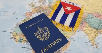 pasaporte de cuba con bandera sobre mapa del mundo
