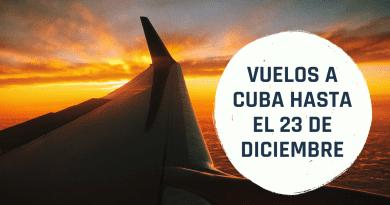 Ofertas en Vuelos a Cuba desde 480 dólares (hasta el 23 de diciembre)