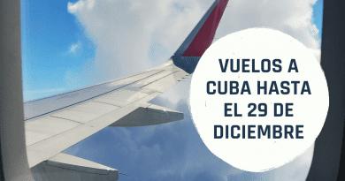 Ofertas en Vuelos a Cuba desde 480 dólares (hasta el 29 de diciembre)