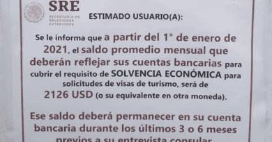 2126 dólares exigen a cubanos para la visa de turismo en México