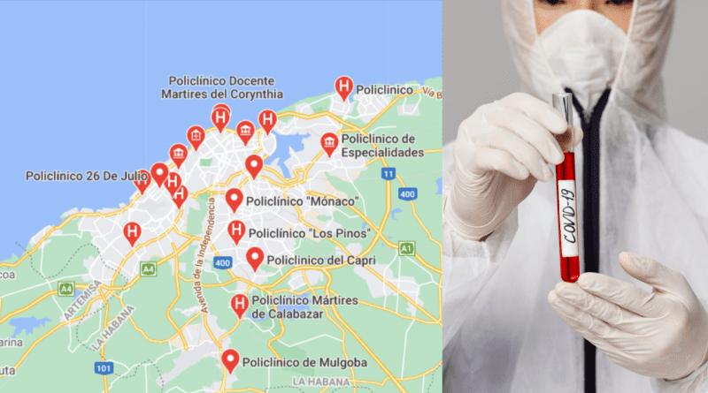Dónde realizar la prueba PCR para la Covid en la Habana
