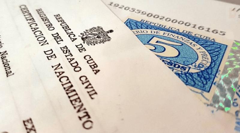 Tarifas de legalización de documentos en Cuba para el exterior (2021)