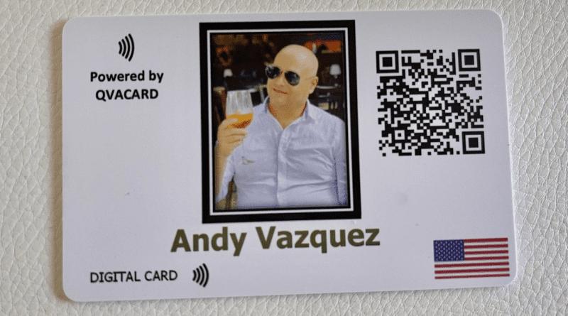 Andy Vázquez crea su propia empresa de tarjetas digitales en Miami