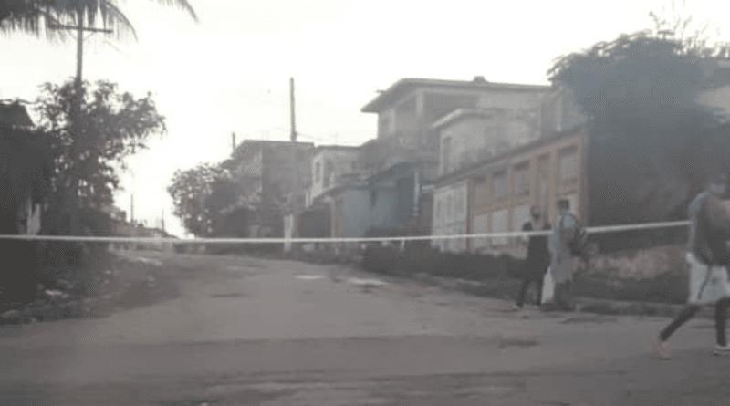 Cierran calles en Marianao por complicada situación de la Covid19