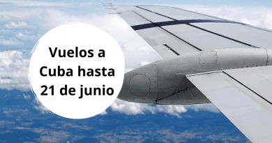 Listado de vuelos internacionales en Cuba hasta el 21 de junio