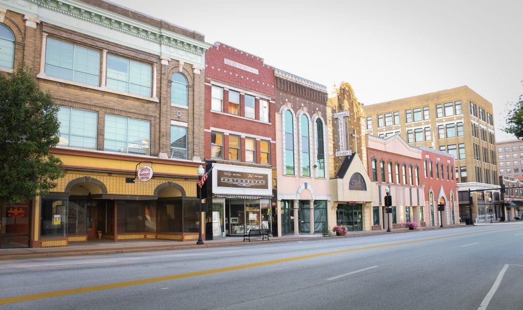 Joplin edificios de la ciudad