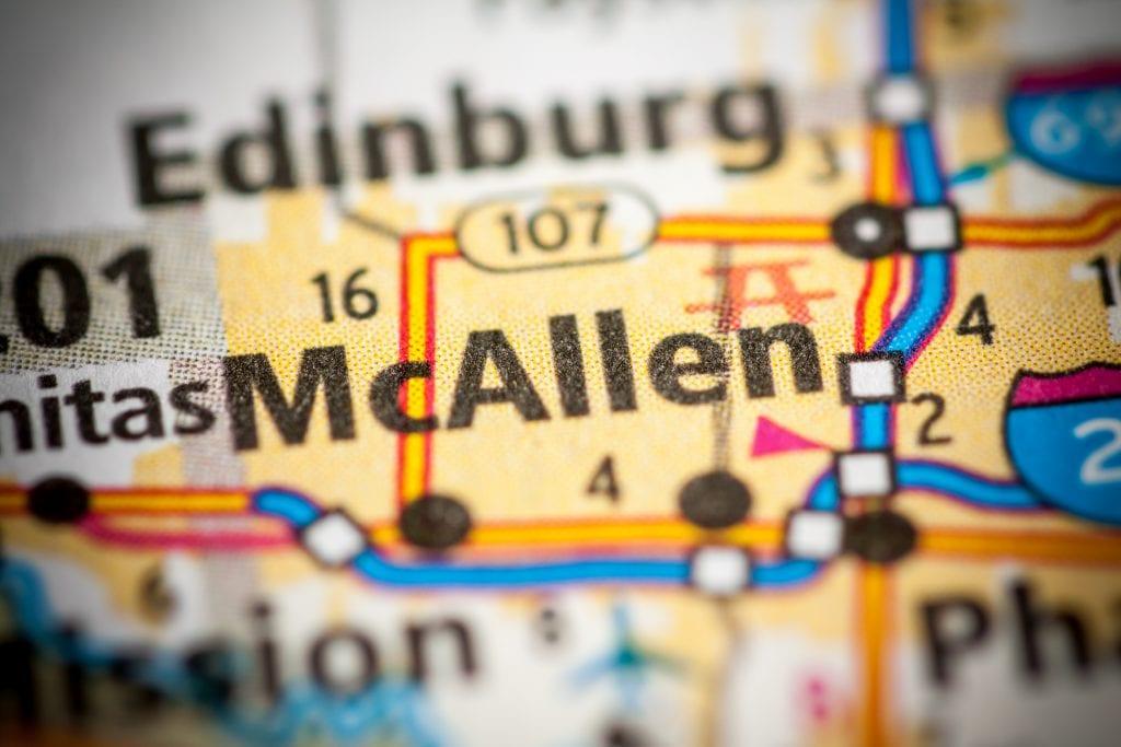 McAllen mapa de la ciudad