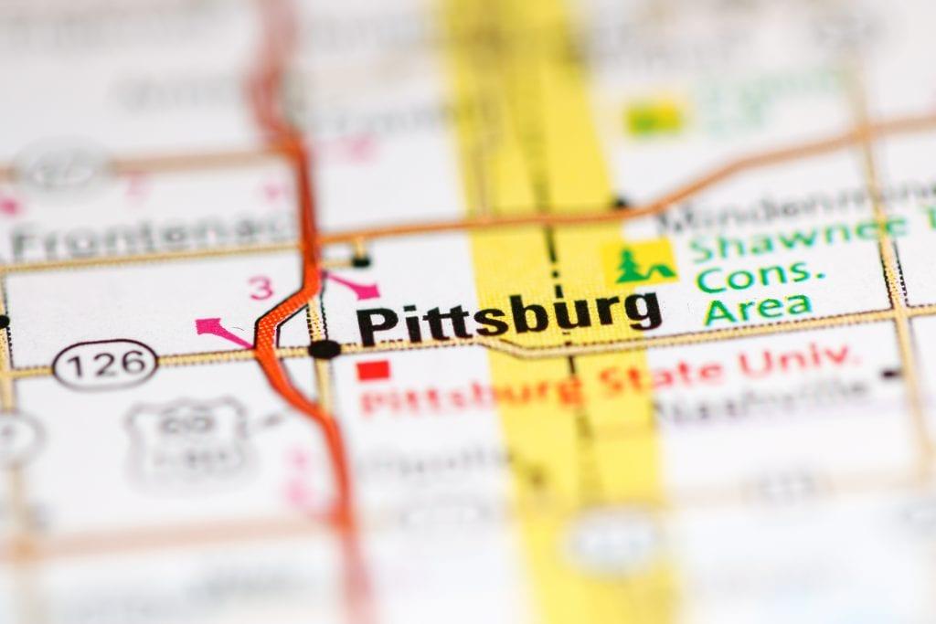 Pittsburg mapa de la ciudad